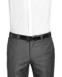 HUGO - Black 'gavrilino' | Patent Leather Belt for Men - Lyst