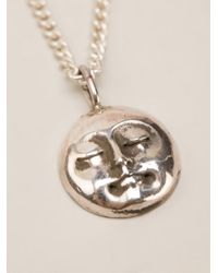 Henson | Metallic Moonface Necklace | Lyst