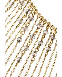 Erickson Beamon | Metallic Ballroom Dancing Gold-Plated Swarovski Crystal Necklace | Lyst