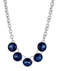 Kenneth Cole - Blue Faceted Round Gemstone Necklace - Lyst