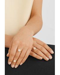 Sophie Bille Brahe - White Lisa Grande 14-Karat Gold Pearl Ring - Lyst