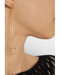 Maria Black   Metallic Silver Screen Goldplated Earrings   Lyst