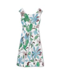 Tory Burch - Multicolor Wisteria Cocktail Dress - Lyst