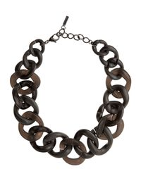 Jaeger - Brown Resin Chain Link Necklace - Lyst