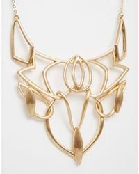Oasis | Metallic Organic Articulated Link Collar Necklace | Lyst