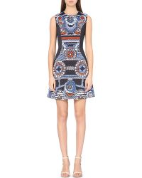 Peter Pilotto - Blue Nova Abstract-print Crepe Dress - Lyst