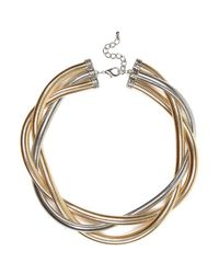 River Island | Metallic Mixed Metal Twisted Slinky Necklace | Lyst