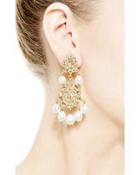 Kirat Young - Metallic Pearl Indian Earrings in Gold - Lyst