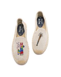 Soludos - Natural Jason Polan For Pinata Smoking Slipper Espadrilles - Lyst