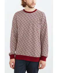 Obey | Purple Jacquard Presser Long-sleeve Tee for Men | Lyst