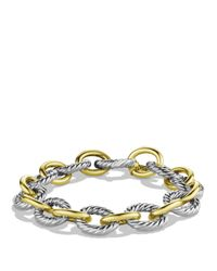 David Yurman | Metallic Oval Large Link Bracelet With Gold | Lyst