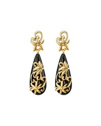 Oscar de la Renta | Metallic Filigree Earrings | Lyst