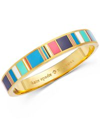 Kate Spade | Metallic Gold-tone Jump For Joy Hinged Bangle Bracelet | Lyst