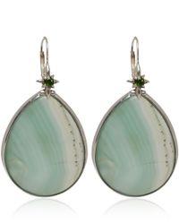 Stephen Dweck - Silver Green Agate and Chromediopside Teardrop Earrings - Lyst