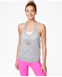 Trina Turk | Gray Recreation Jersey Laser-cut Tank Top | Lyst
