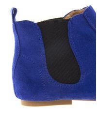 ALDO | Blue Heltzel Flat Boot | Lyst