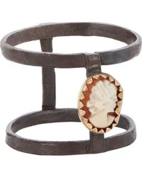 Julie Wolfe | Brown Cameo Cage Ring | Lyst