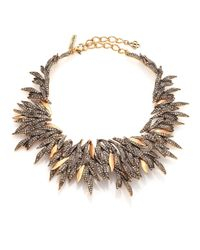 Oscar de la Renta | Metallic PavÉ Crystal Spike Statement Necklace | Lyst