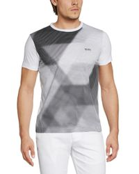 BOSS Green | Gray 'tee' | Cotton Abstract Print T-shirt for Men | Lyst