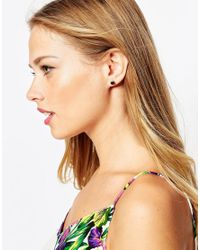 Ted Baker | Black Sina Crystal Stud Earrings | Lyst