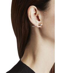Katie Rowland - Pink Mini Stake 18Kt Rose Gold Vermeil Earrings - Lyst