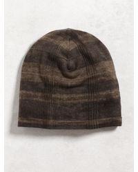 John Varvatos - Brown Silk Cashmere Knit Hat for Men - Lyst