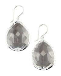 Ippolita - Gray Teardrop Quartz Earrings - Lyst
