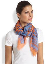 Proenza Schouler - Blue Cashmere Silk Scarf - Lyst