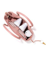 Dagne Dover Pink Signature Classic Coated Canvas Tote