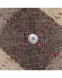 Burlington - Burlington Preston Argyle Dark Brown Socks 24284 5230 for Men - Lyst