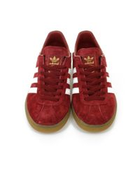 Adidas Originals   Red München Burgundy Shoe for Men   Lyst
