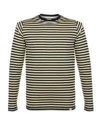Norse Projects | Blue Svali Military Stripe Navy Strand Yellow Ls T-Shirt N10-0112 for Men | Lyst