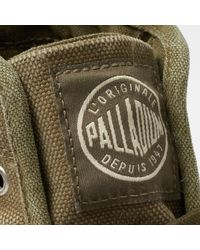 Palladium Green Pallabrouse Washed Canvas Mid Boots for men
