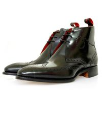 Jeffery West | Polished Black Brogue Boot for Men | Lyst