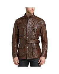 Belstaff - Multicolor The Panther Belted Cognac Leather Jacket 71050068 for Men - Lyst