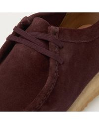 Clarks - Multicolor Wallabee Burgundy Suede Shoes for Men - Lyst