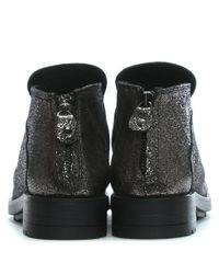 Manufacture D'essai Multicolor Ruched Silver Leather Ankle Boots