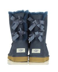 Ugg - Blue Bailey Bow Navy Women'S Flat Boot - Lyst