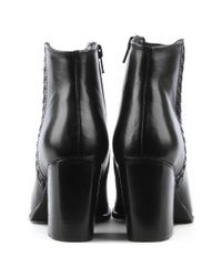 Daniel - Victorina Black Leather Pointed Toe Ankle Boot - Lyst