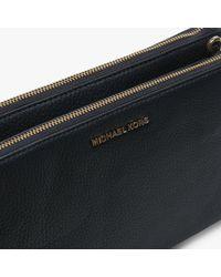 Michael Kors - Blue Adele Gusset Admiral Leather Cross-Body Bag - Lyst