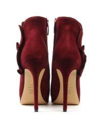 Daniel - Multicolor Myra Burgundy Suede Ruffled Ankle Boot - Lyst