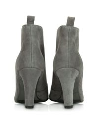 Kennel & Schmenger - Gray Moments Grey Suede Zip Front Ankle Boot - Lyst