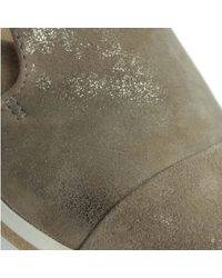 Daniel | Multicolor Georgetown Taupe Leather Low Wedge Loafer | Lyst
