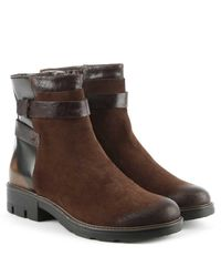 Daniel Footwear - Brown Amella Tan Leather Contrast Ankle Boot - Lyst