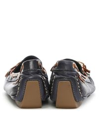 Moda In Pelle - Blue Alivia Navy Leather Moccasin - Lyst