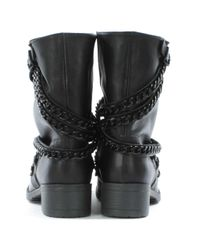 Daniel - Black Respectful Chain Biker Boots - Lyst