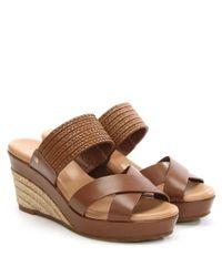 Ugg - Brown Adriana Tamarina Leather Wedge Mule - Lyst
