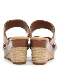 Ugg - Brown Adriana Tamarina Leather Wedge Mule - Lyst