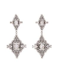 DANNIJO - Metallic Faith Crystal Drop Earrings - Lyst
