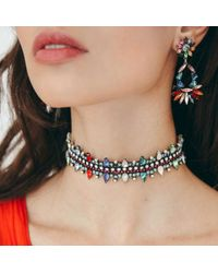 DANNIJO - Multicolor Cabella Drop Earrings - Lyst